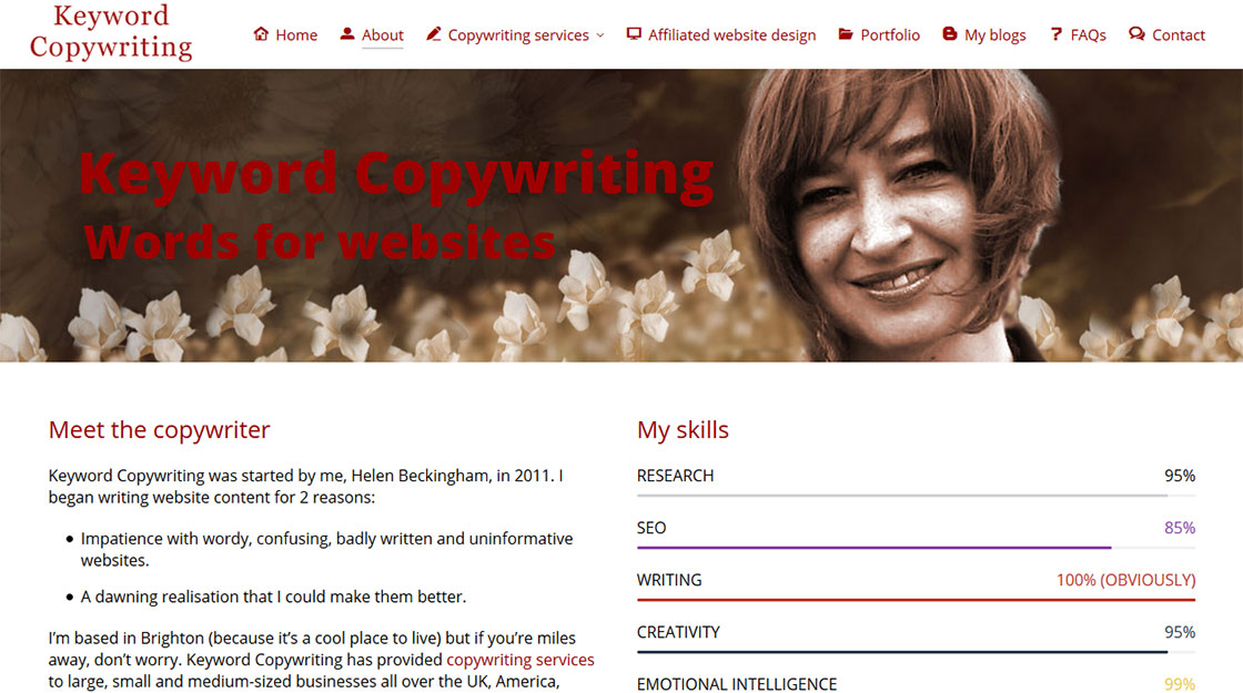 Helen Beckingham - Keyword Copywriting Brighton