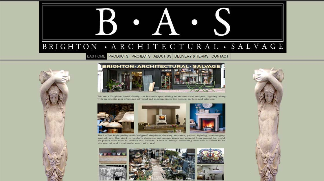 Brighton Web and print design - antiques client