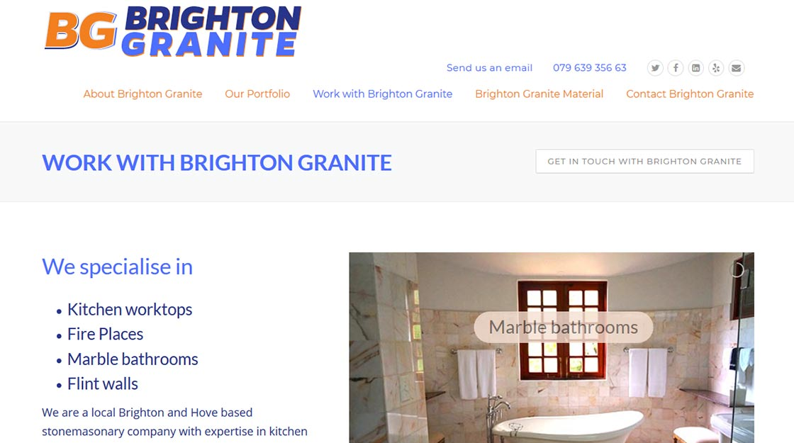 Web and print design - Stonemason Client from Brighton and Hove